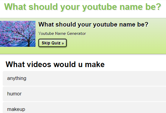 Best 11 Free YouTube Name Generators 2017